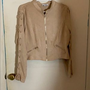Fashion Nova Jackets & Coats - Tan suede Fashion Nova jacket